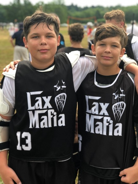 Spike (Michael Evans) and Matthew Evans of Lax Mafia May, 2019 at NLF
